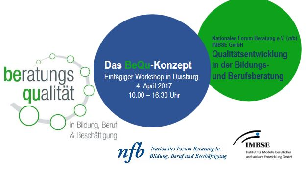 Flyer BeQu Workshop Duisburg